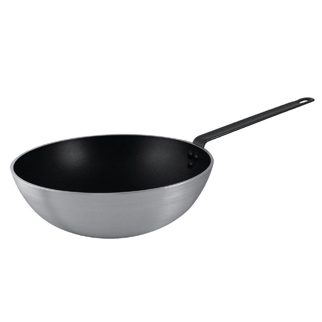 Vogue Non Stick Teflon Platinum Wok 300mm - Each - CE165