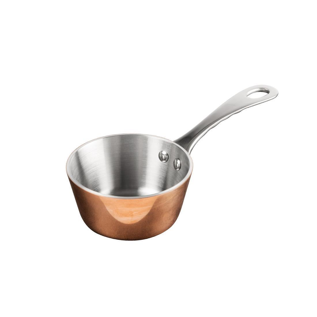 Vogue Mini Copper Tri Wall Saute Pan 85mm - Each - GG761