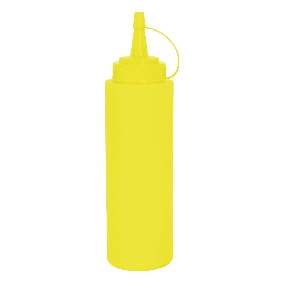 Vogue Yellow Squeeze Sauce Bottle 12oz - Each - K144