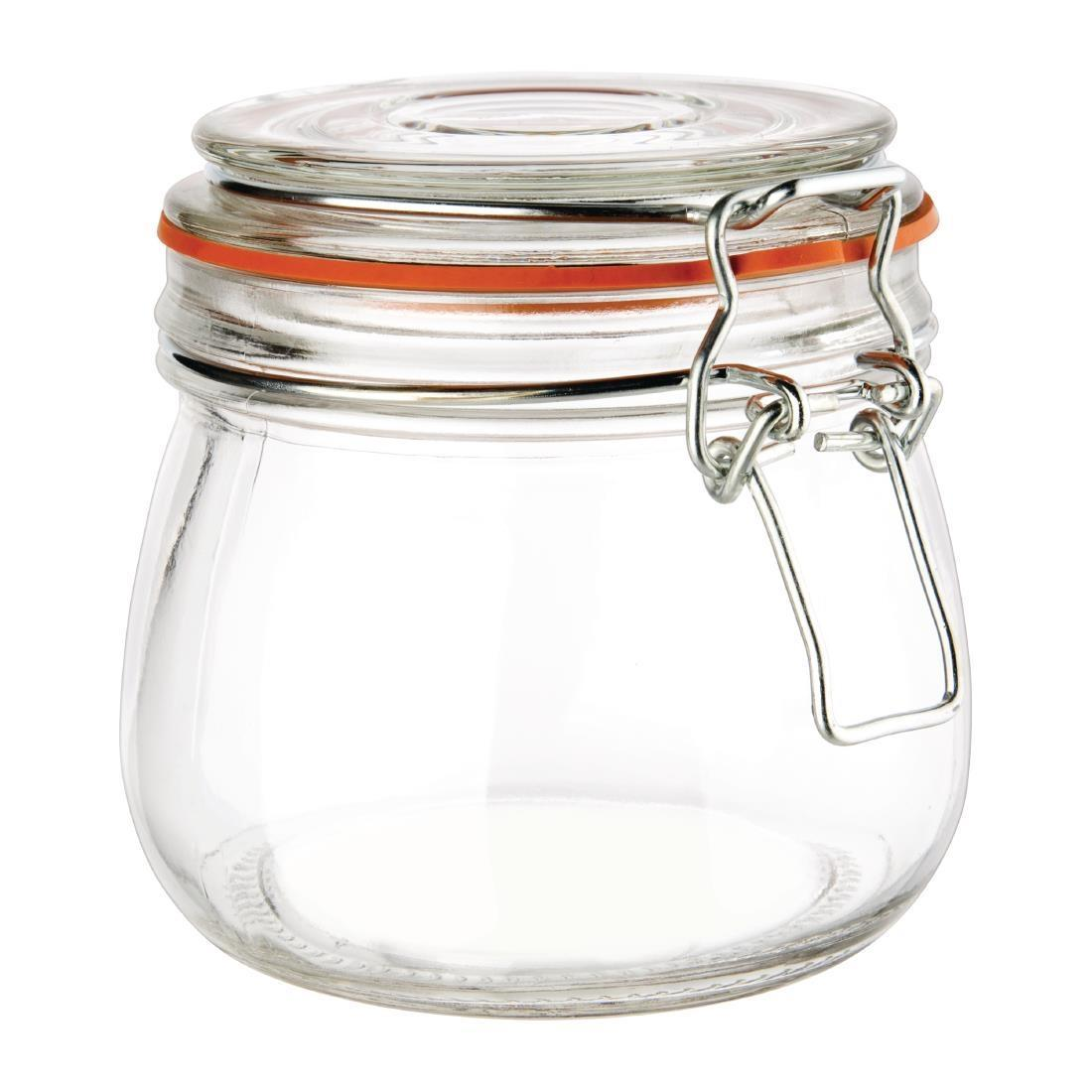 Vogue Clip Top Preserve Jar 500ml - P490
