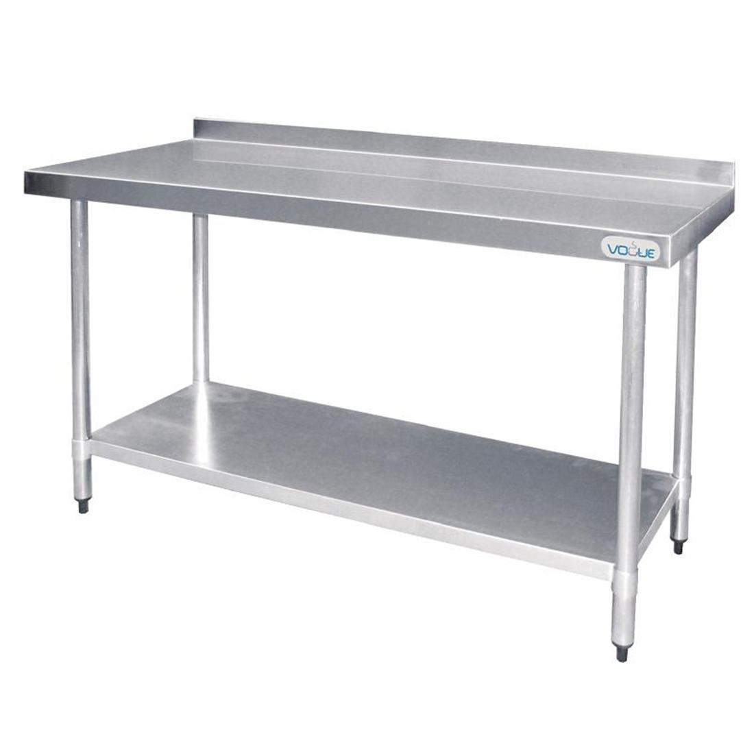 Vogue Stainless Steel Prep Table with Upstand 1200mm - T381
