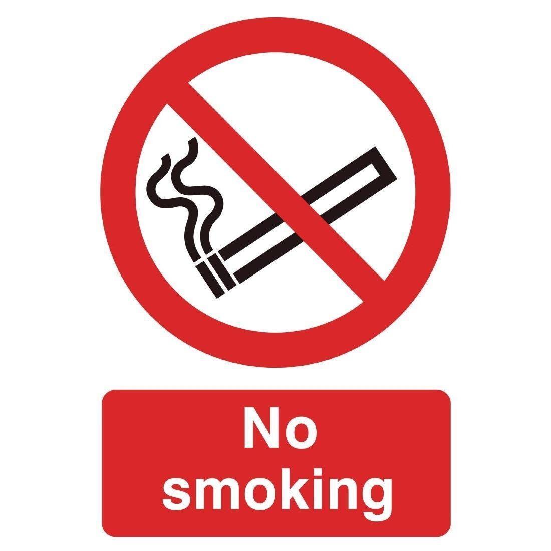 PVC No Smoking Symbol Sign - W391