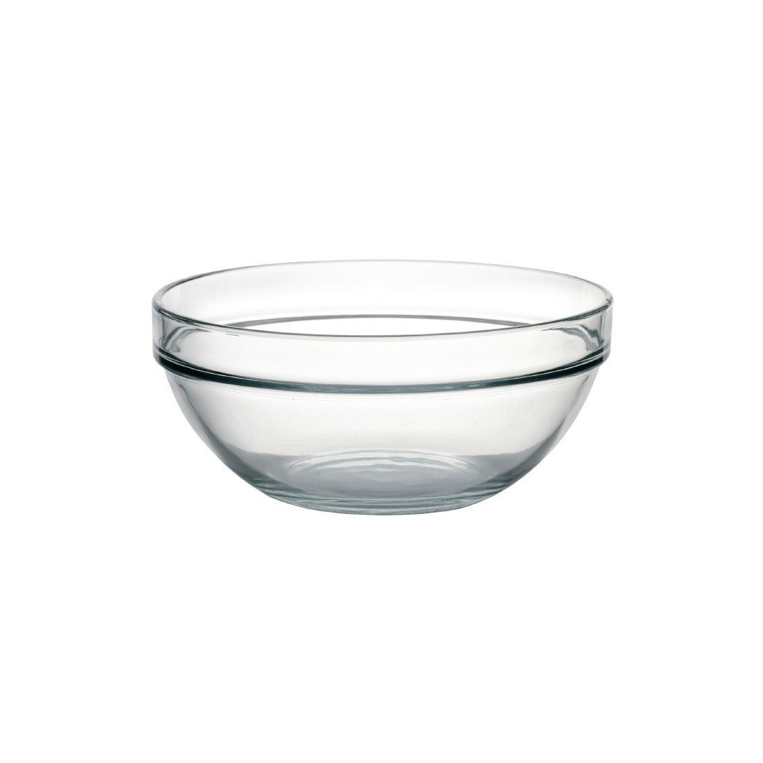 "Arc Chefs Glass Bowl - 2.9Ltr 98oz 23cm 9"" (Box 6) - E552"