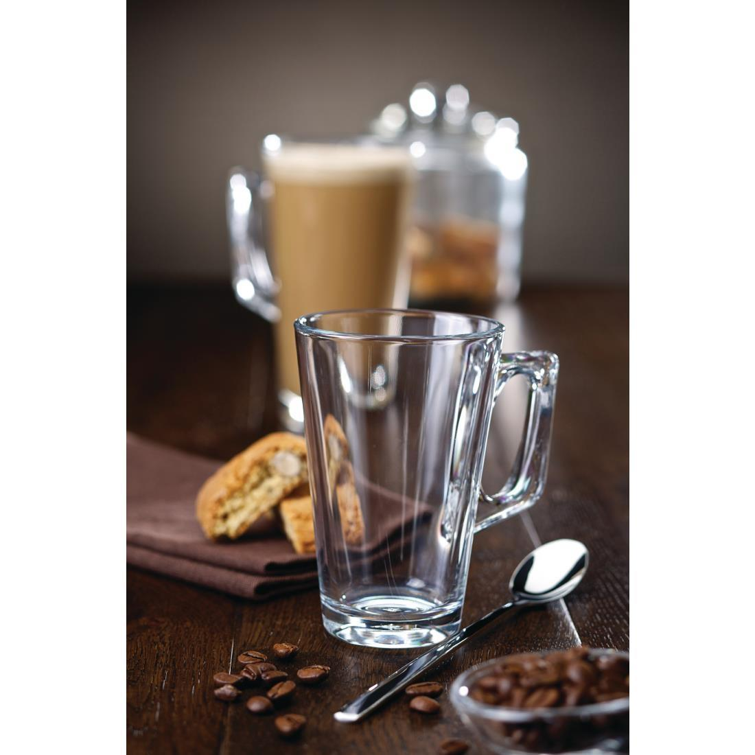 Conic Glass Latte Mug - 250ml 8.66oz (Box 12) - F859