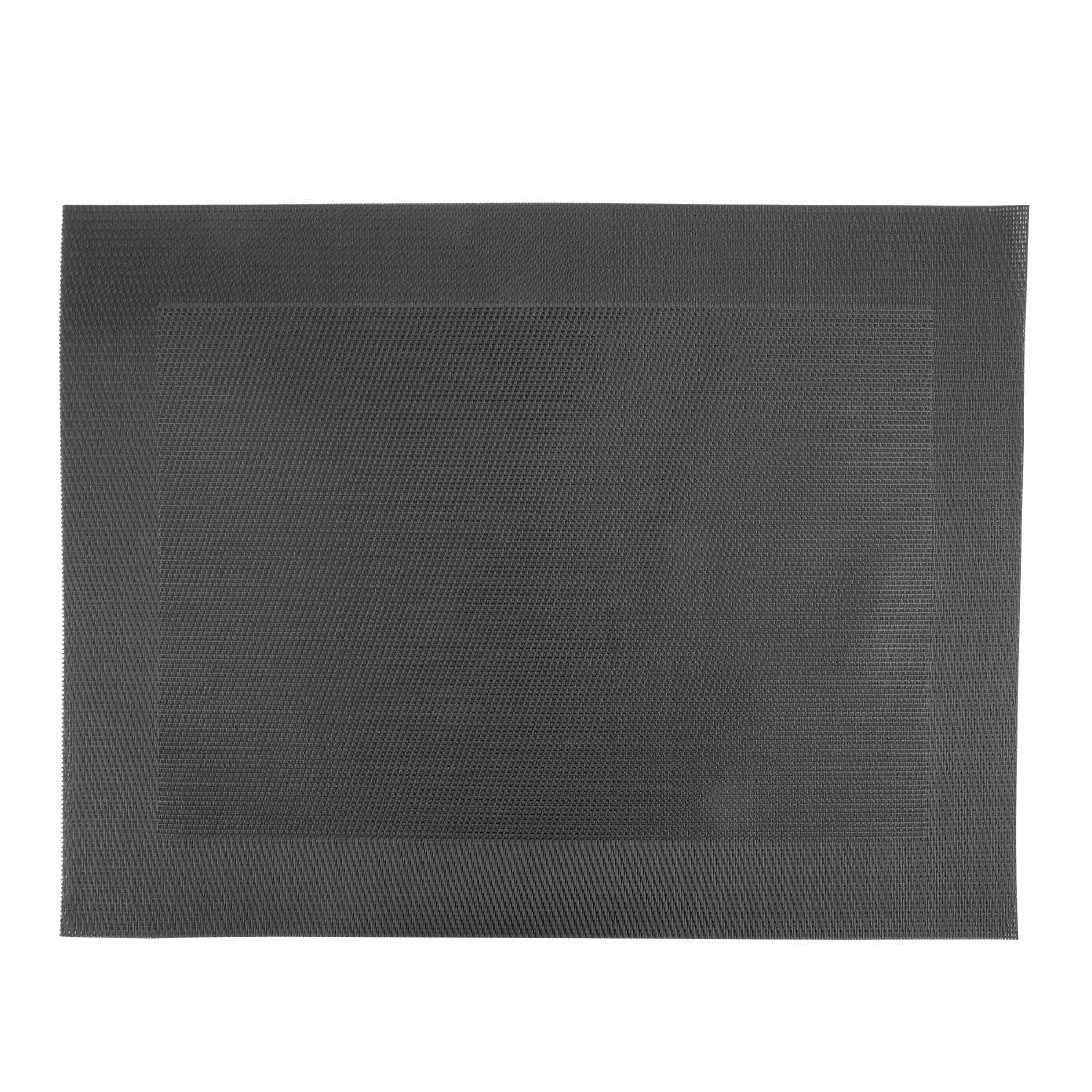 Woven PVC Black Table Mat