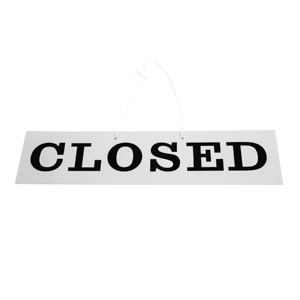 Reversible Hanging Open And Closed Sign - W212