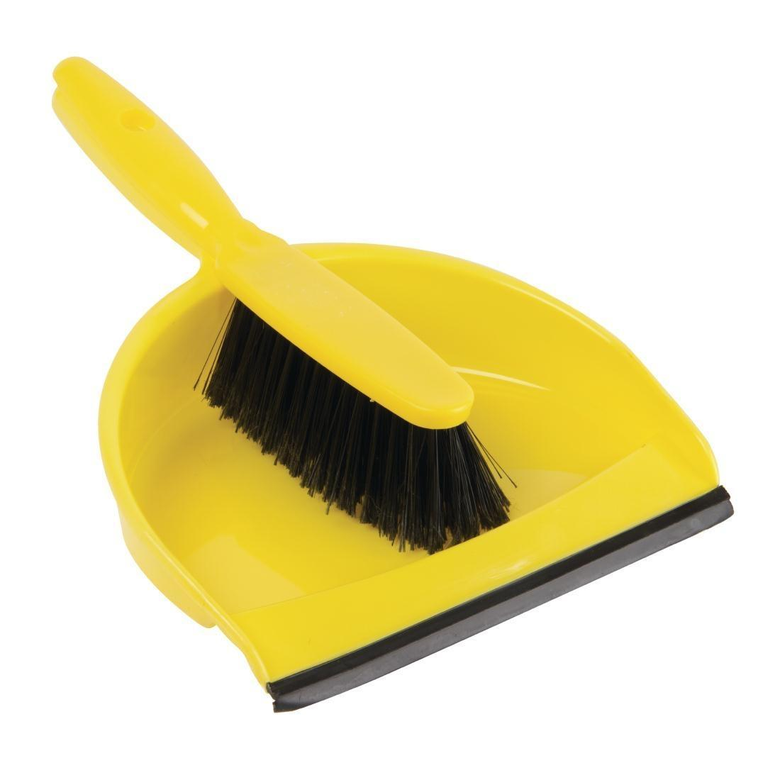 Jantex Soft Dustpan and Brush Set Yellow