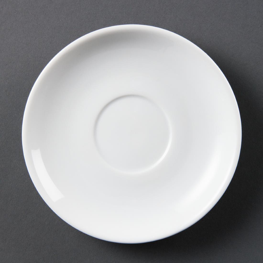Olympia Whiteware Stacking Saucers