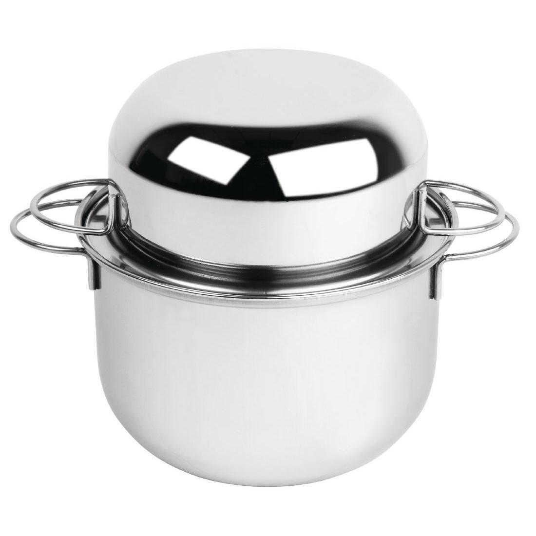 Olympia Mussel Pot Stainless Steel Medium