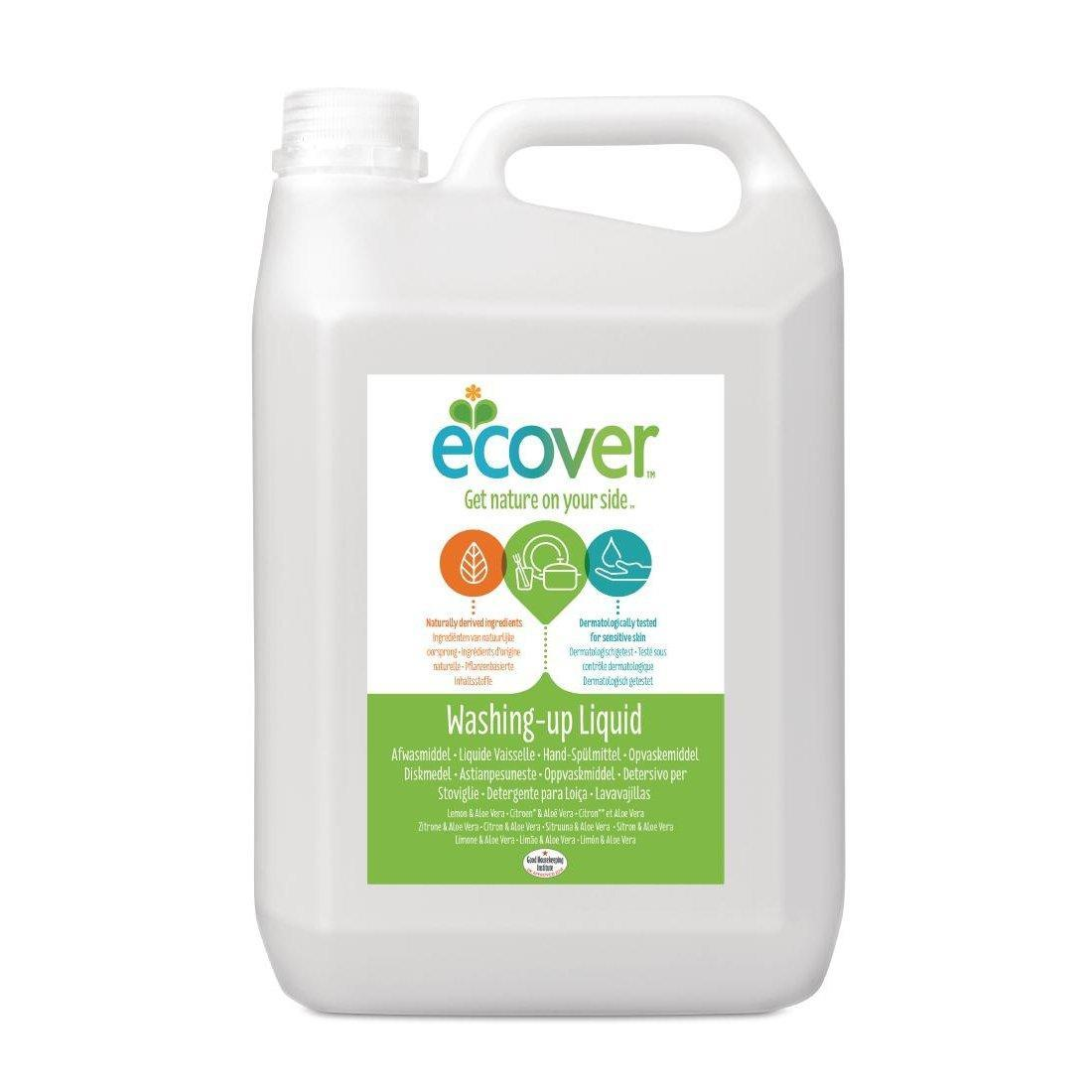 Ecover Lemon and Aloe Vera Washing Up Liquid 5 Litre - Each - GH500