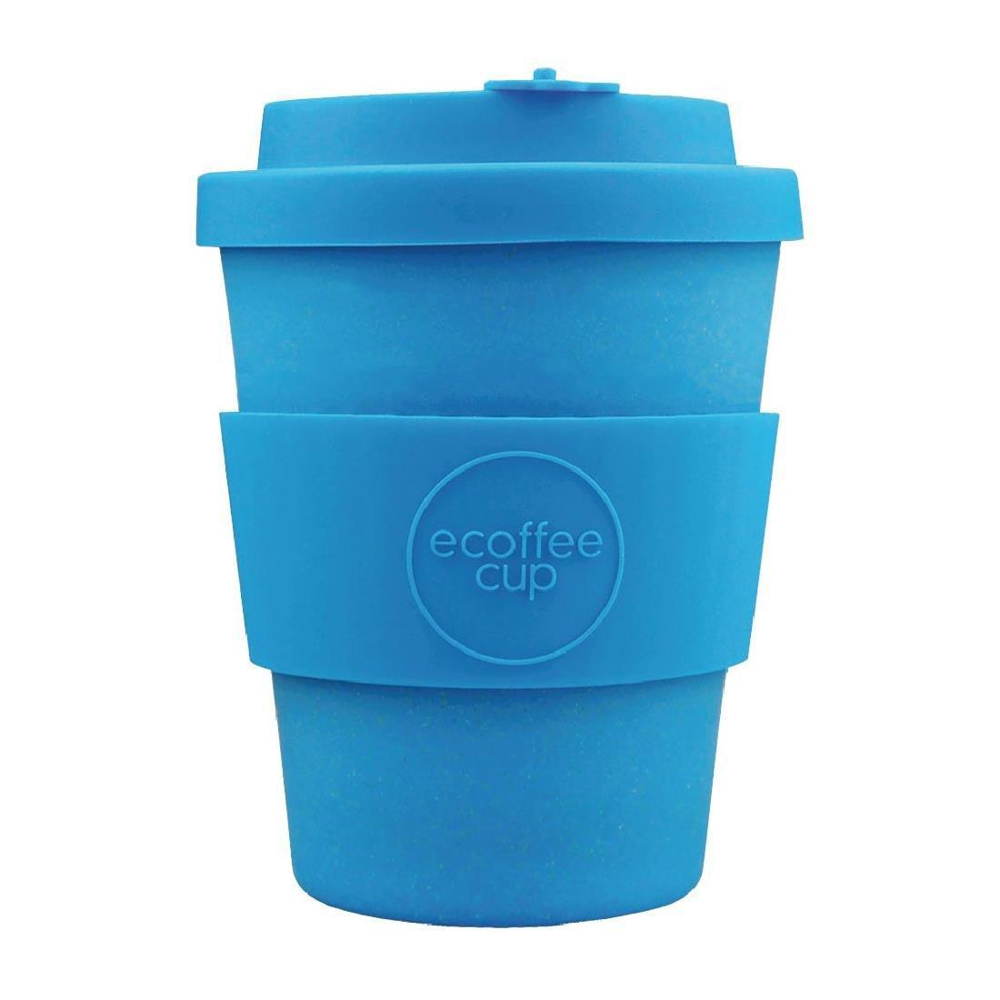 Ecoffee Cup Bamboo Reusable Coffee Cup Toroni Blue 12oz - Each - DY485