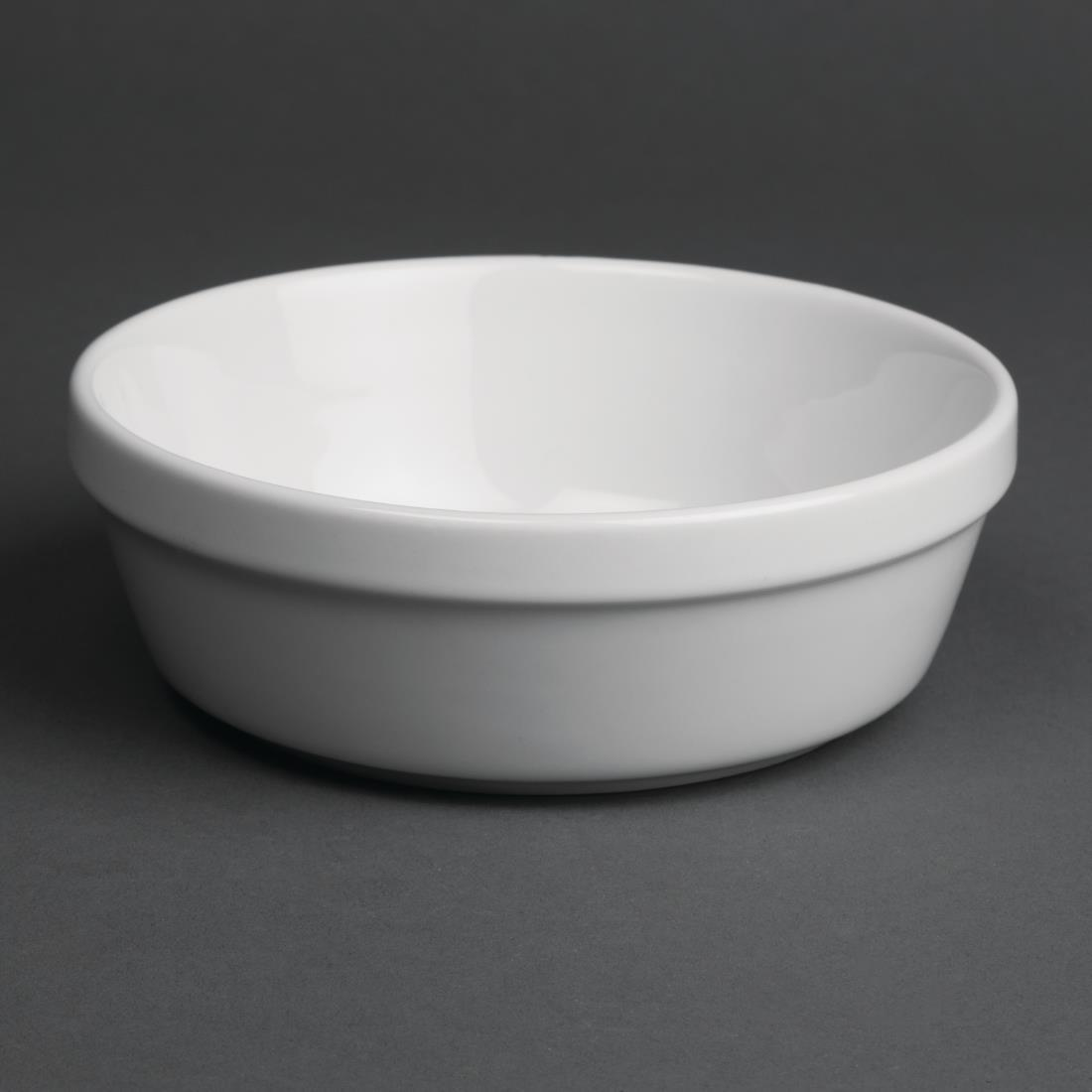 Olympia Whiteware Round Pie Bowls 137mm