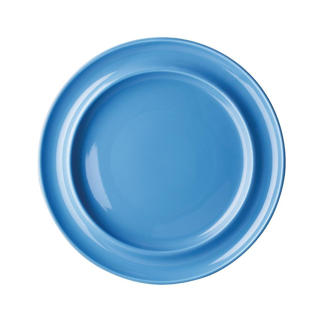 Olympia Heritage Raised Rim Plates Blue 253mm