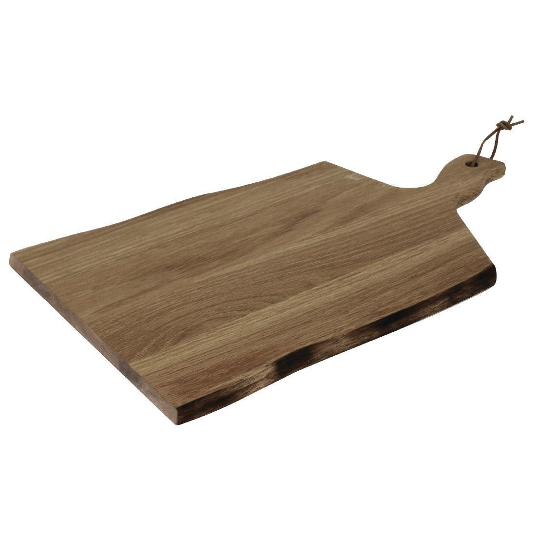 Olympia Acacia Wood Wavy Handled Wooden Board Large 355mm