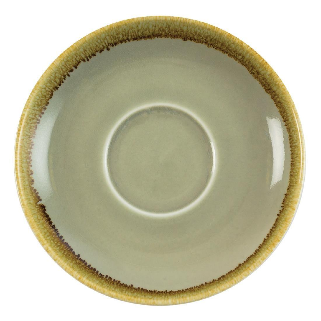 Olympia Kiln Cappuccino Saucer Moss 160mm