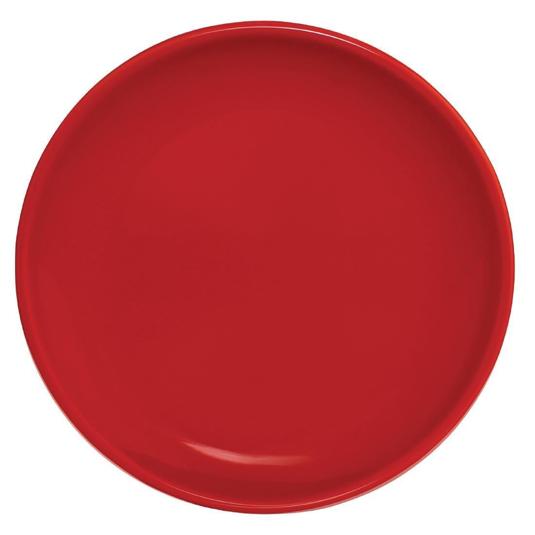 Olympia Cafe Coupe Plate Red 250mm