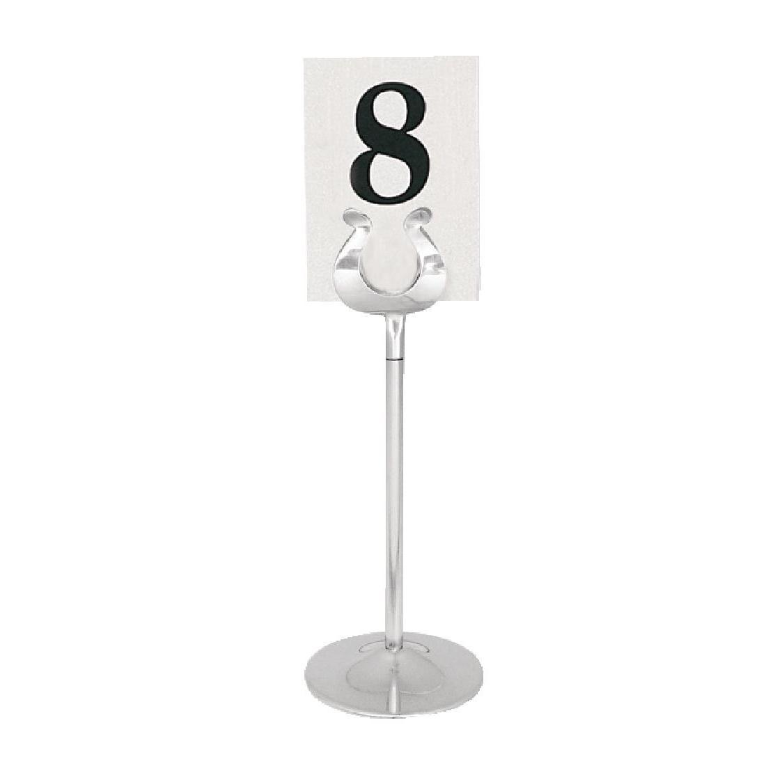 Stainless Steel Table Number Stand 205mm