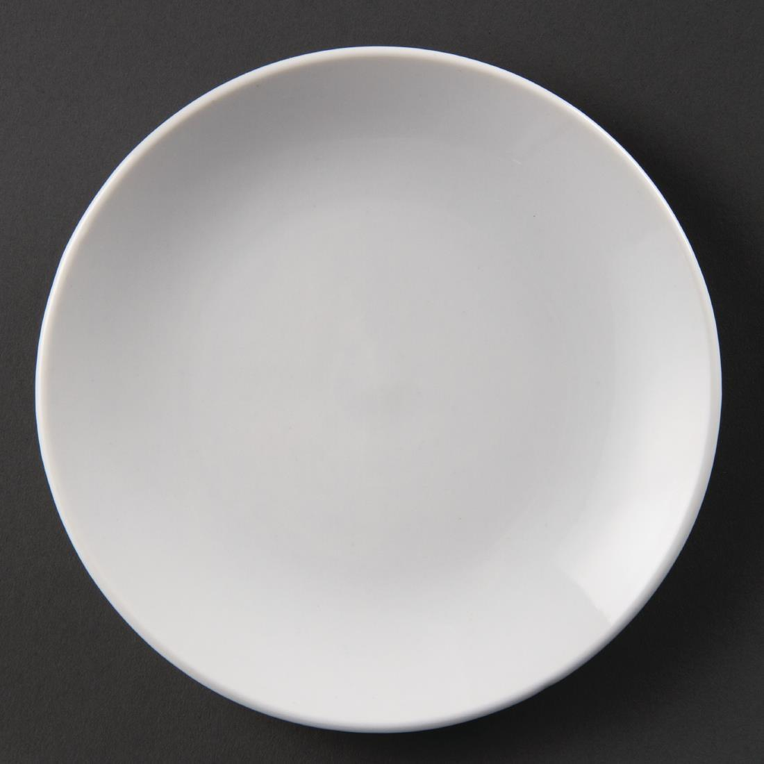 Olympia Whiteware Coupe Plates 150mm