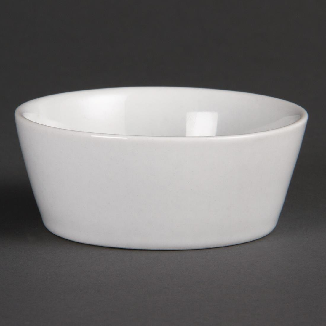 Olympia Whiteware Sloping Edge Bowls 90mm