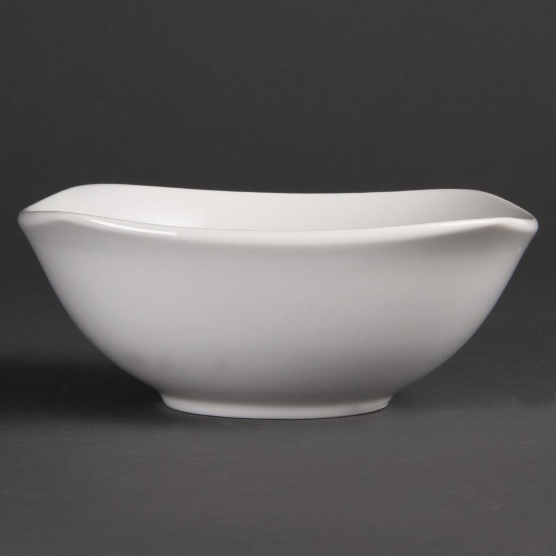 Olympia Whiteware Rounded Square Bowls 180mm