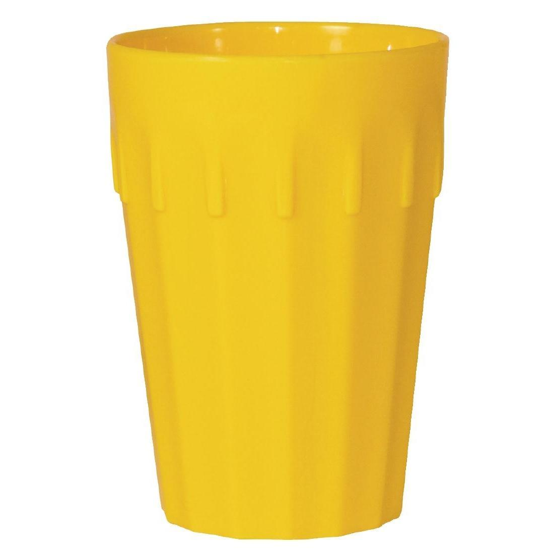 Kristallon Polycarbonate Tumblers Yellow 260ml - Case 12 - CB775