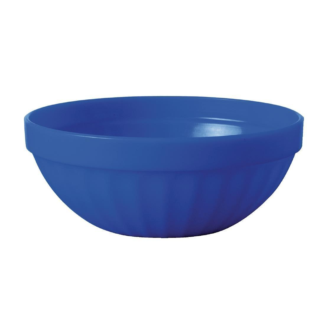 Kristallon Polycarbonate Bowls Blue 102mm - Case 12 - CE276