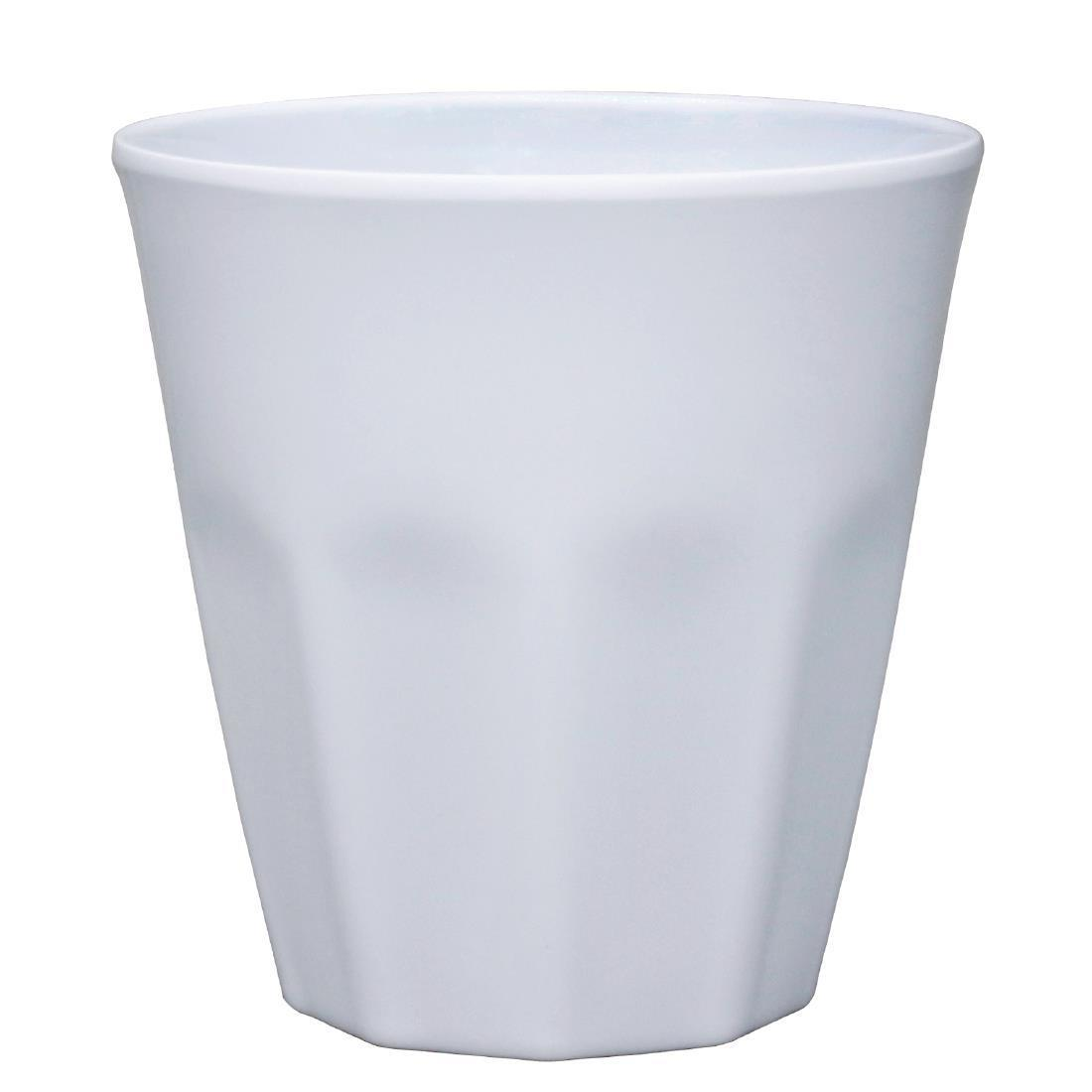 Kristallon Melamine Plastic Tumbler White 290ml - Case 6 - CR346