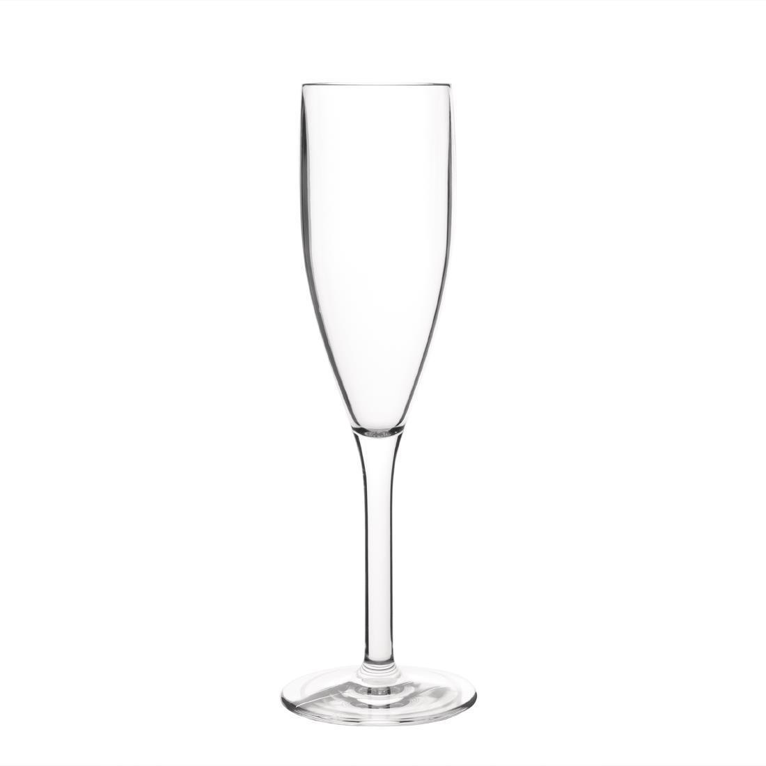 Kristallon Polycarbonate Champagne Flutes 210ml - Case 12 - DS133
