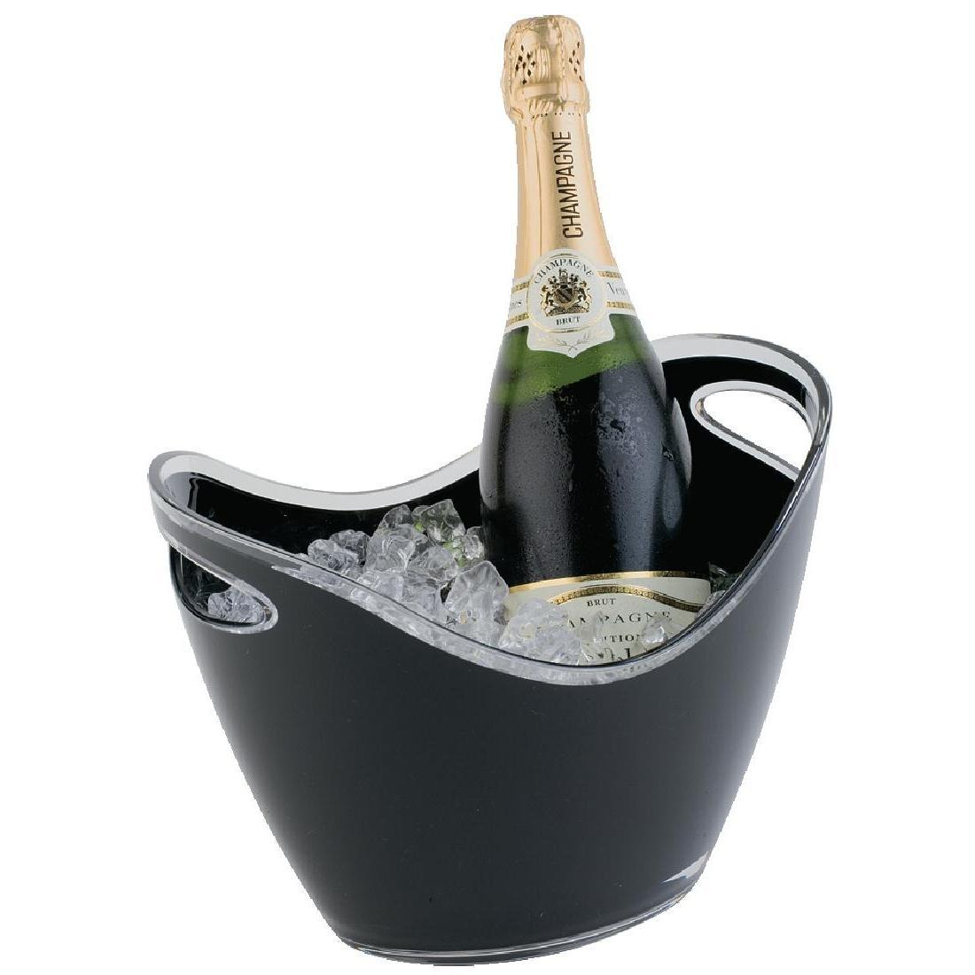 APS Black Acrylic Wine And Champagne Bucket - Each - CF312
