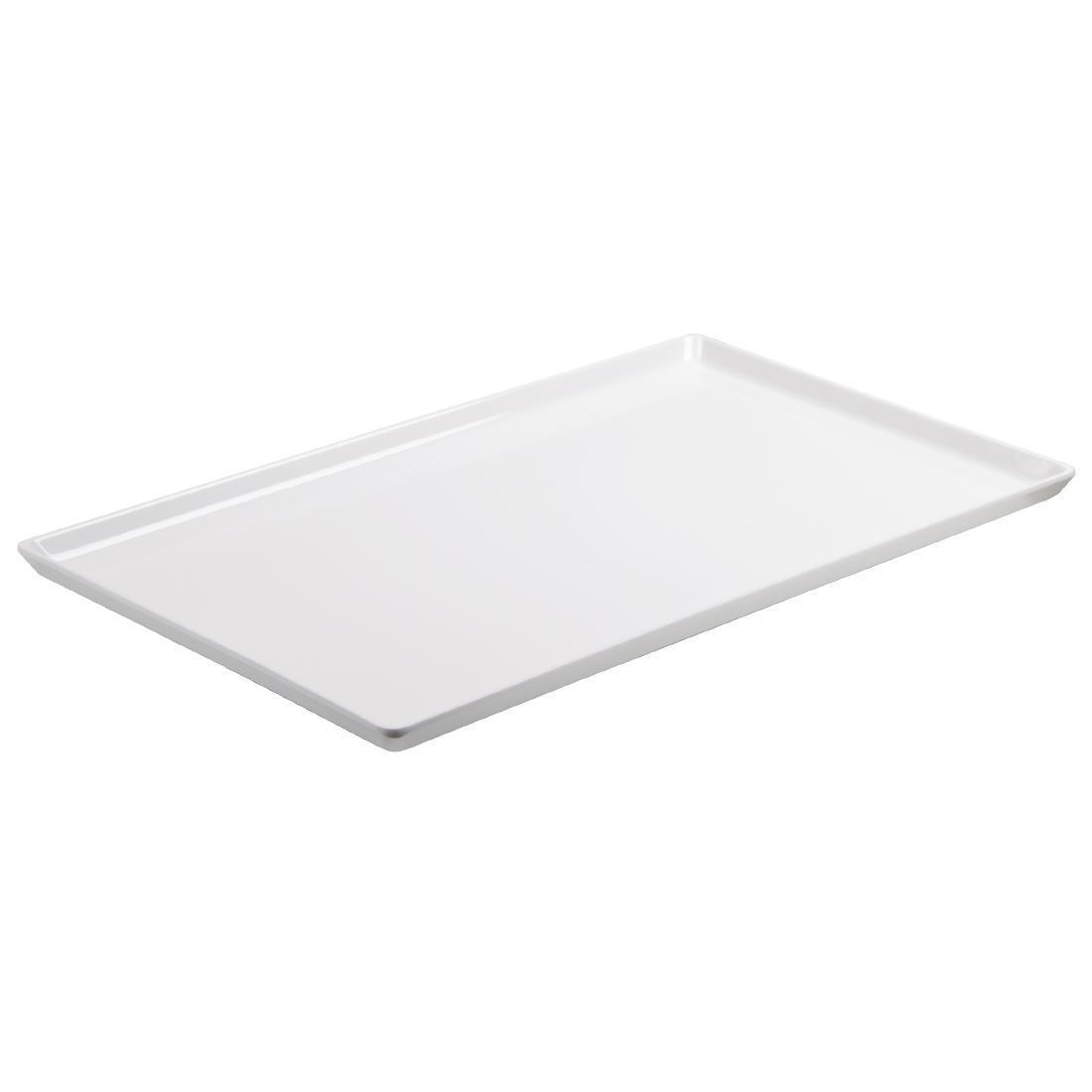 APS Float Melamine Tray White GN 1/2 - Each - GF076