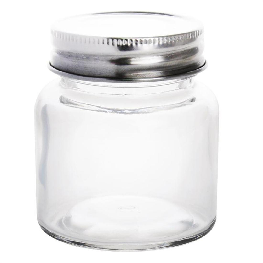 Vogue Glass Screw Top Preserving Jar 85ml - Case 12 - CP081