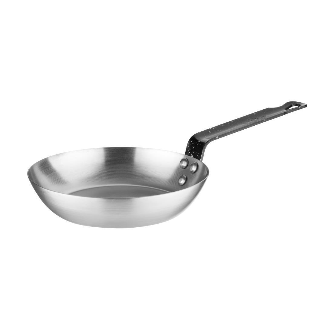 Vogue Black Iron Induction Frying Pan 180mm - Each - GD062