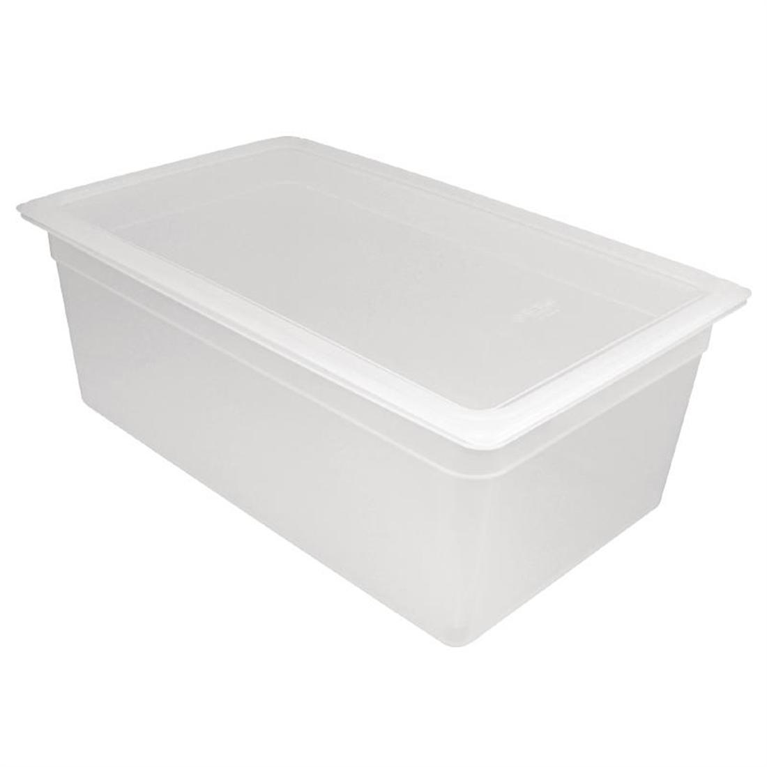 Vogue Polypropylene 1/1 Gastronorm Container with Lid 200mm - Pack of 2 - GJ513