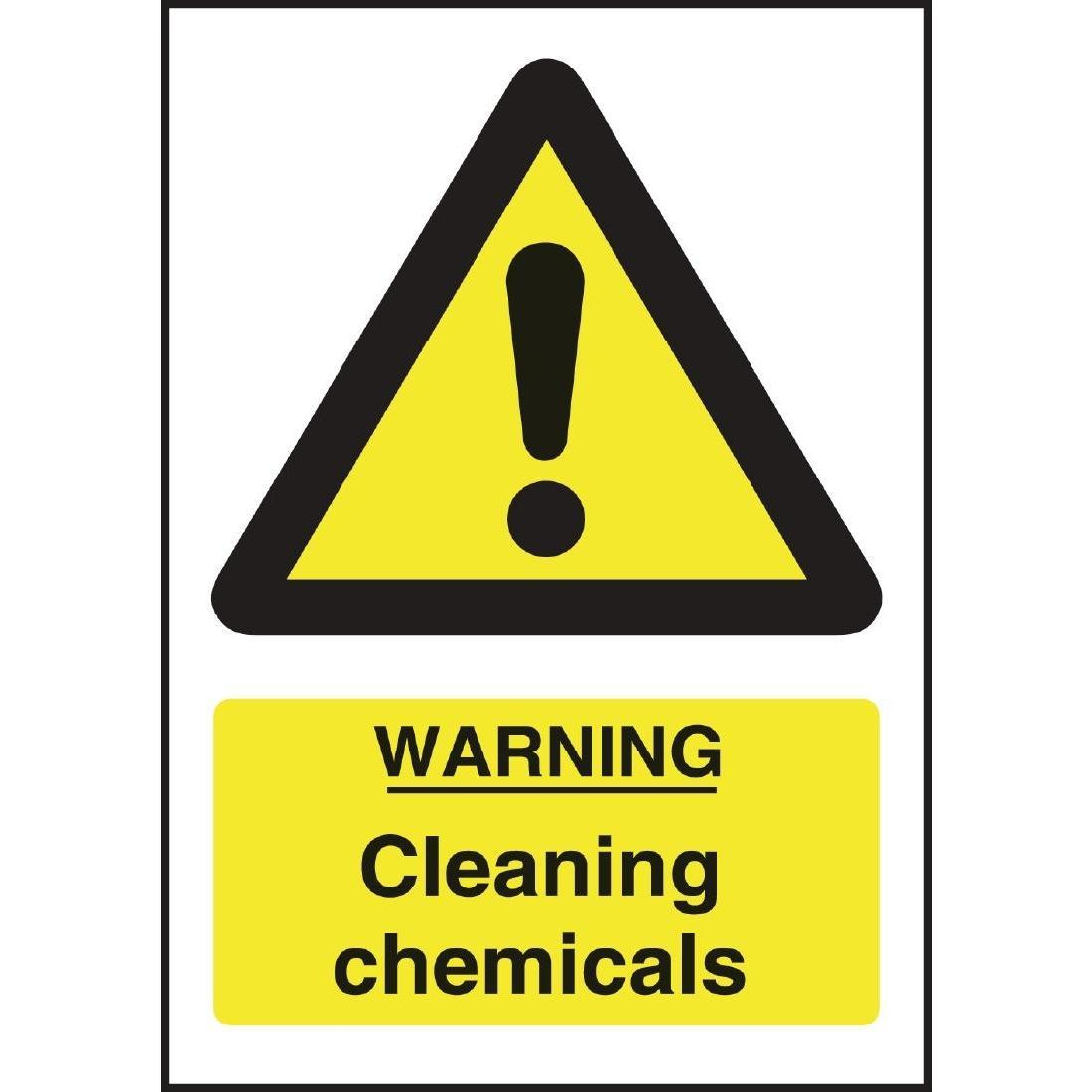 Warning Cleaning Chemicals Sign - L851