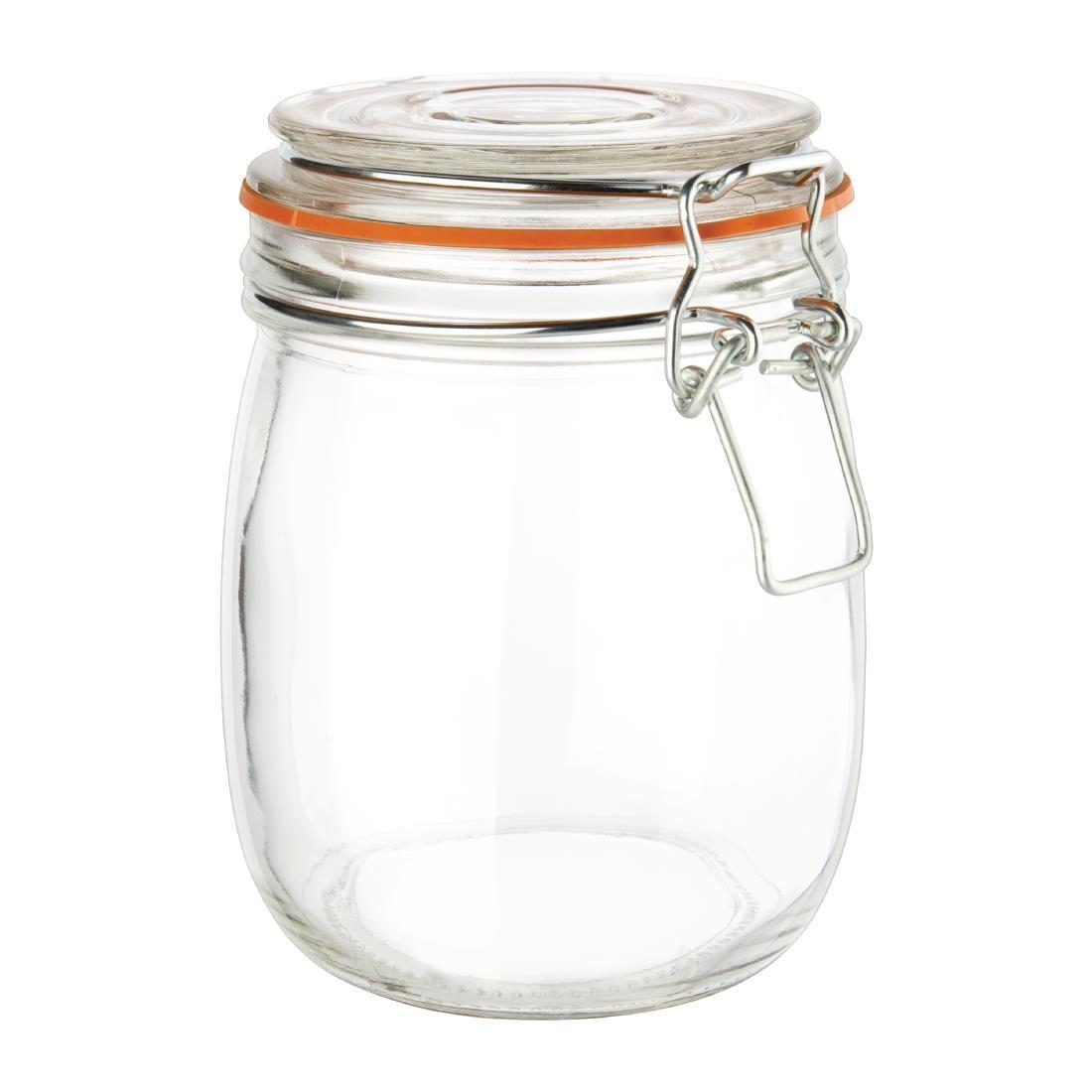 Vogue Clip Top Preserve Jar 750ml - P491
