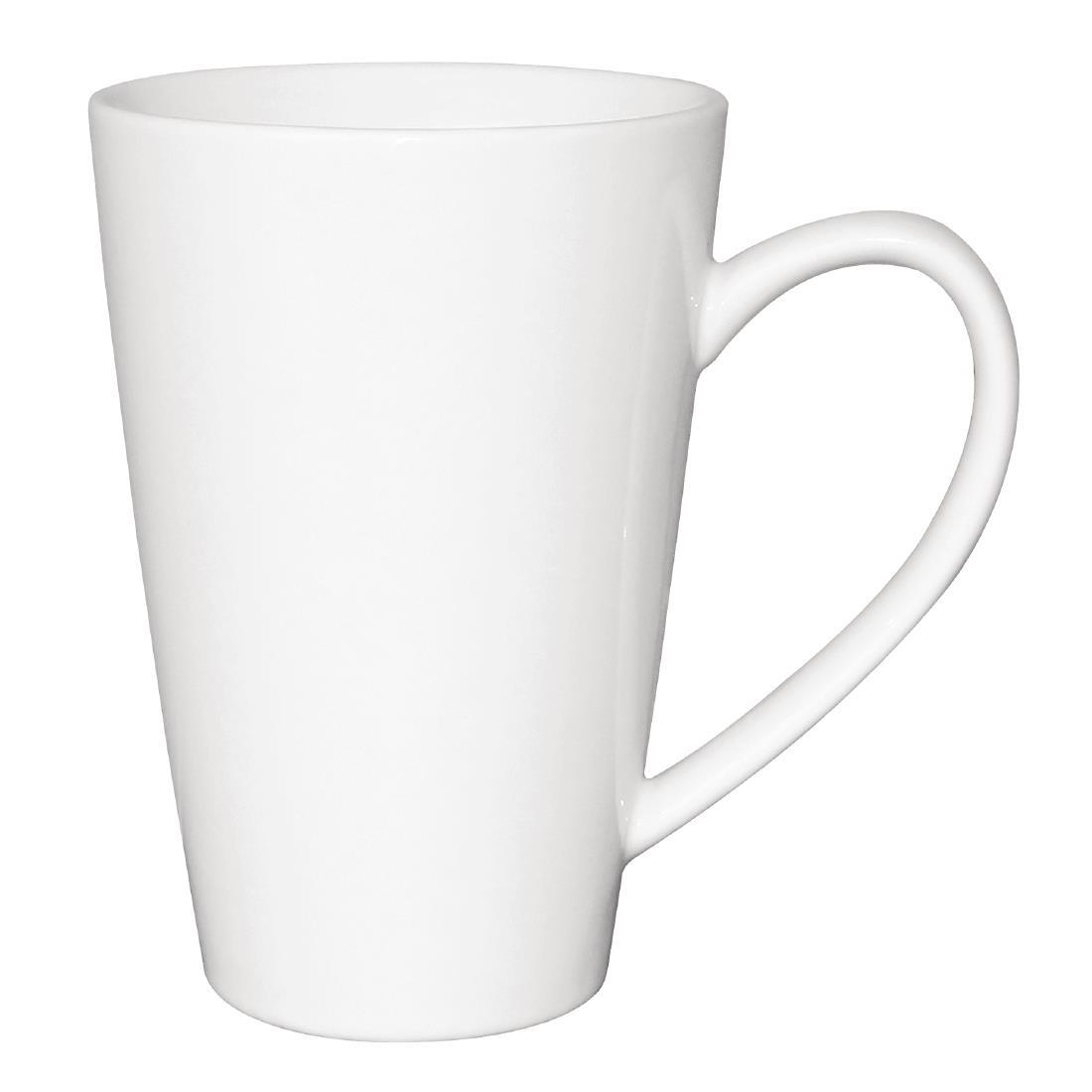 Olympia Cafe Latte Cups White 454ml
