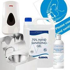 Sanitisers and Hand Wash Stations