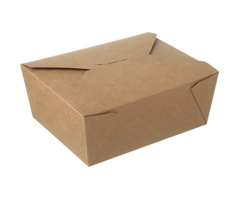Kraft Hot Food Box Compostable #8 - 1400ml