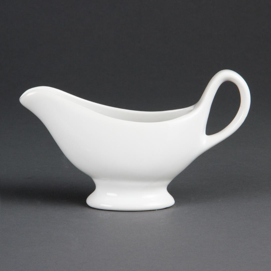 Olympia Whiteware Gravy Boats 215ml 7.5oz