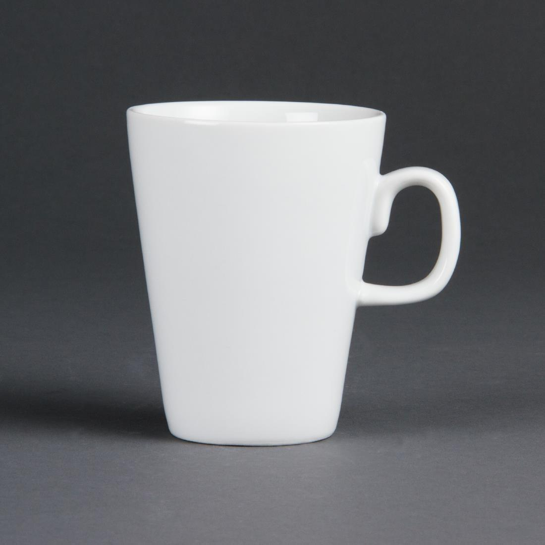 Olympia Whiteware Latte Mugs 310ml 11oz