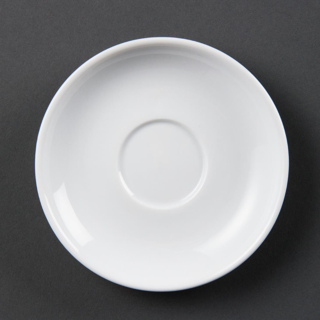Olympia Whiteware Espresso Saucers