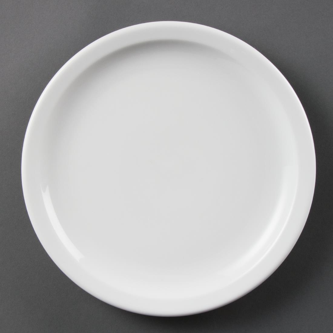 Olympia Whiteware Narrow Rimmed Plates 230mm