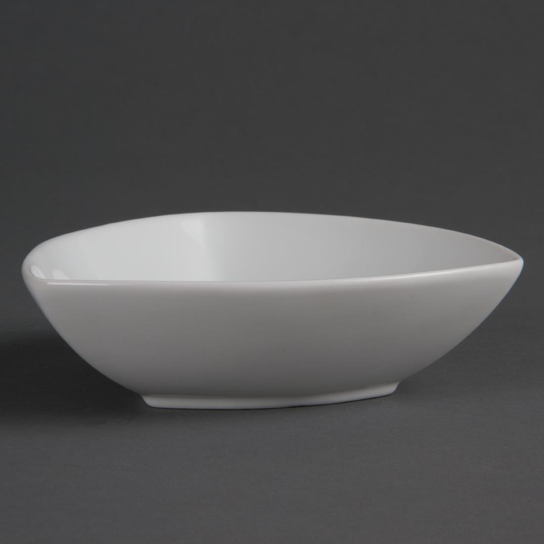 Olympia Whiteware Rounded Triangular Bowls 155mm