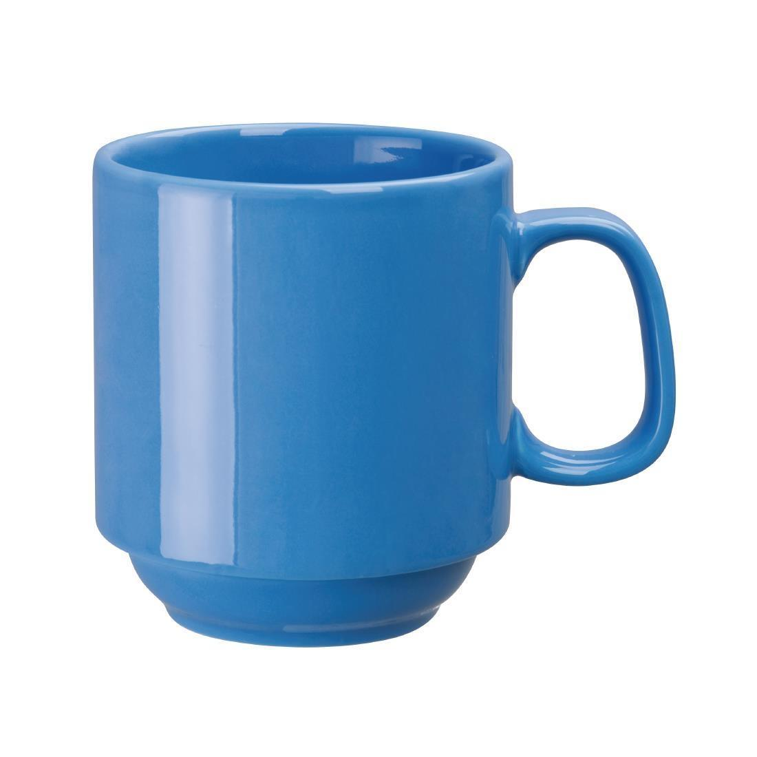Olympia Heritage Stacking Mug Blue 300ml