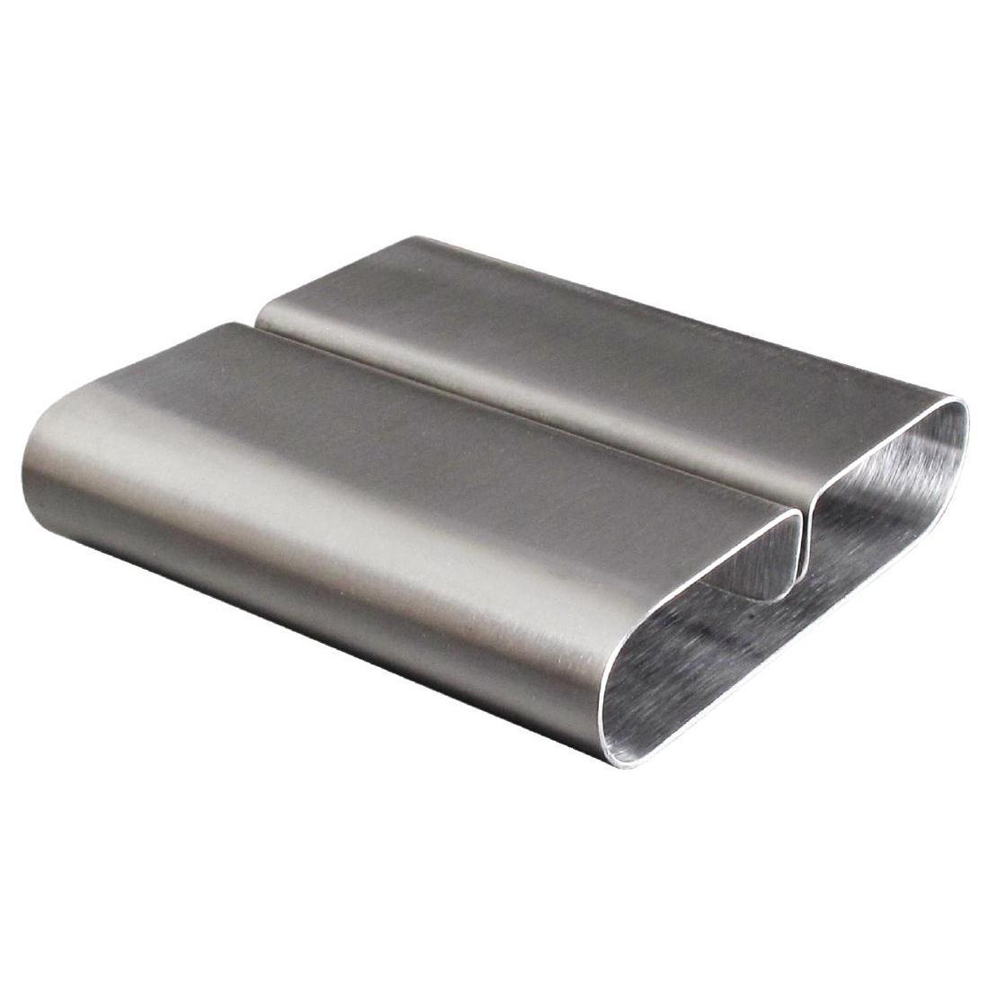 Olympia Curved Stainless Steel Menu Card Holder