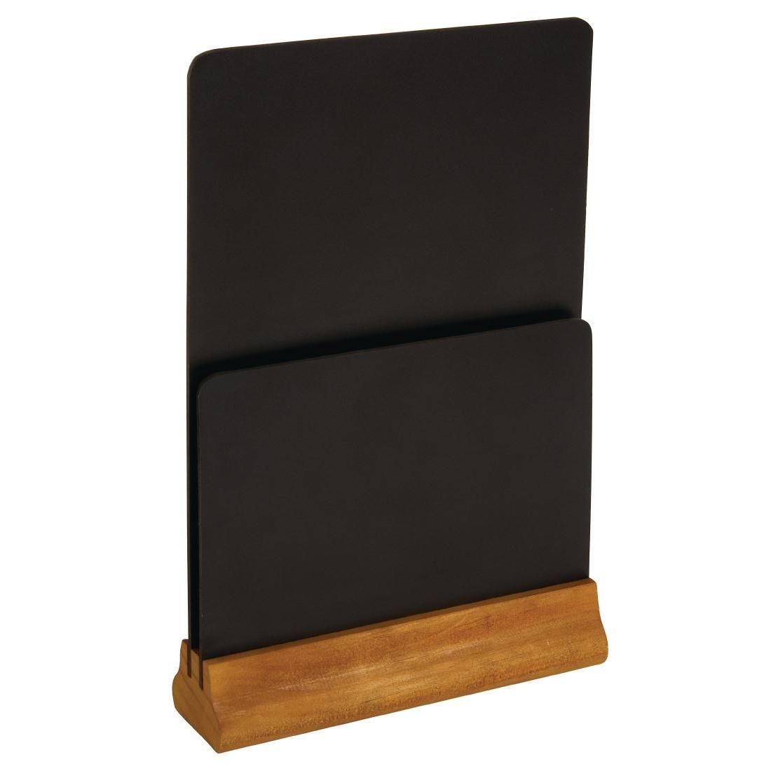 Olympia Double Blackboard Menu Holder