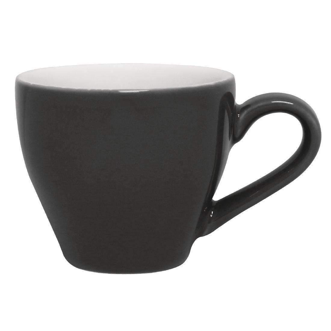 Olympia Cafe Espresso Cups Charcoal 100ml