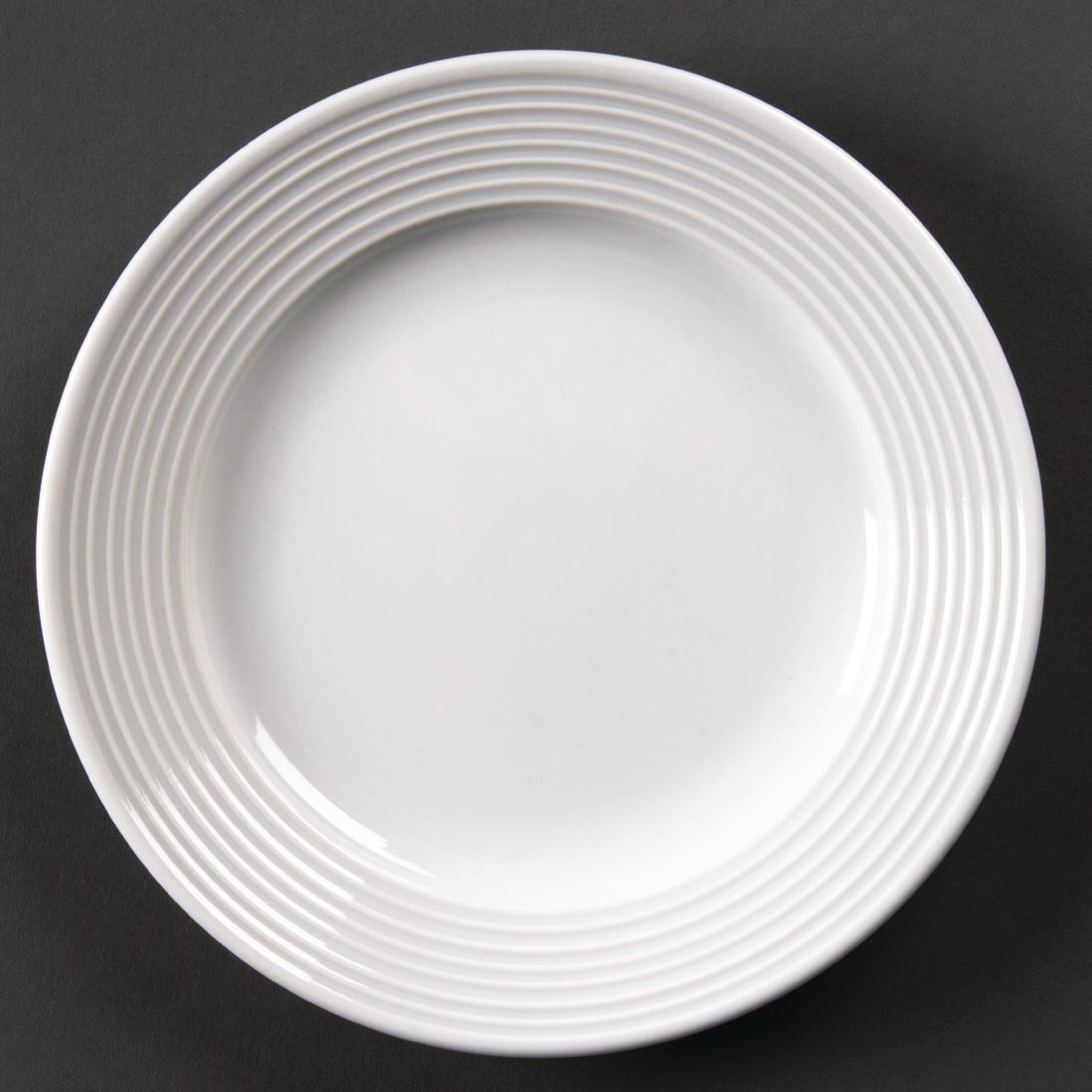 Olympia Linear Wide Rimmed Plates 150mm