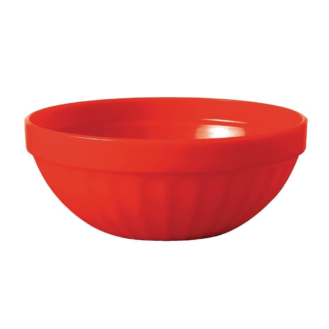 Kristallon Polycarbonate Bowls Red 102mm - Case 12 - CE277