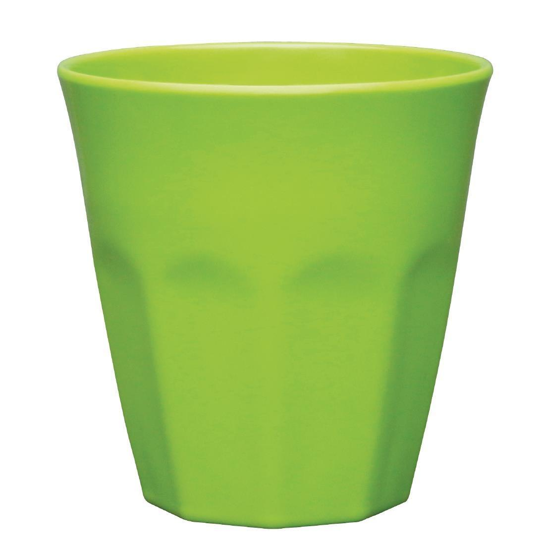 Kristallon Melamine Plastic Tumbler Green 290ml - Case 6 - CR345